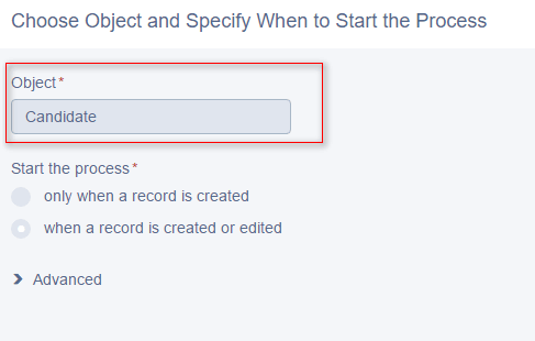 Process: Object Selection