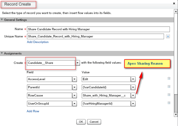 Create Candidate Share record
